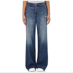 NSF CALIFORNIA HEPBURN WIDE LEG FLARED JEANS
